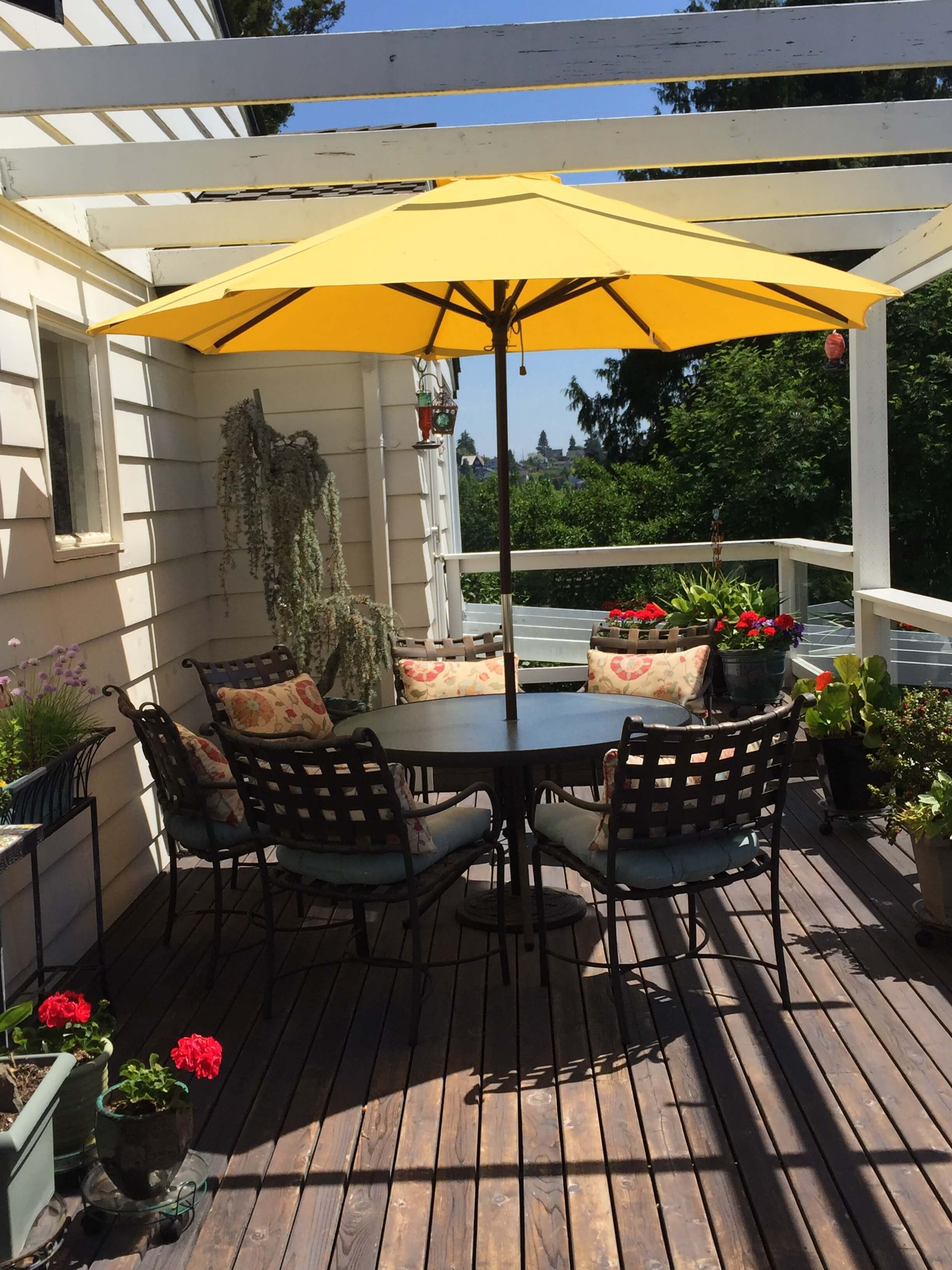 Private Deck with BBQ, Deck Furniture and Mt Rainier View