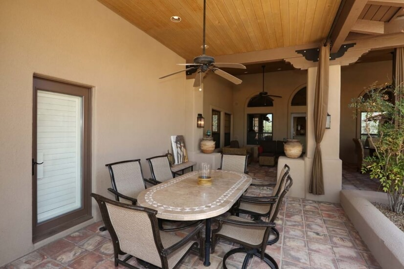 tons of patio space for outdoor living