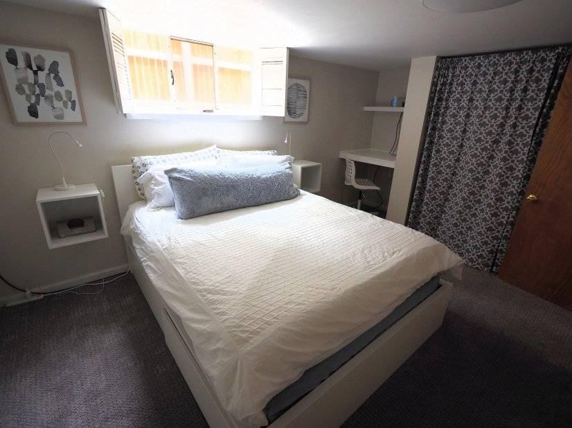 Bedroom 1 with built in desk
