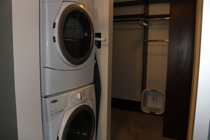 Washer, Dryer, and Closet