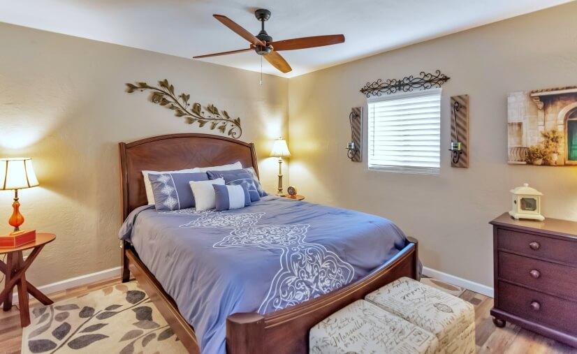 First Bedroom. Queen-size Bed