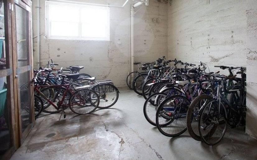 Indoor Bike Storage!