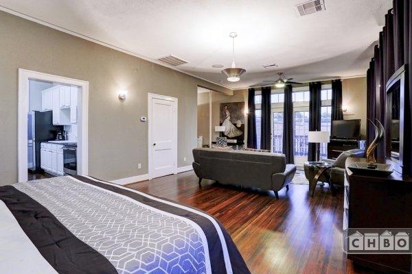 Hardwood floors in this upstairs unit