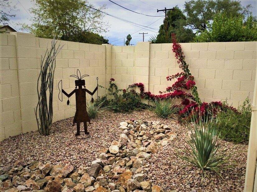 Garden with Kachina