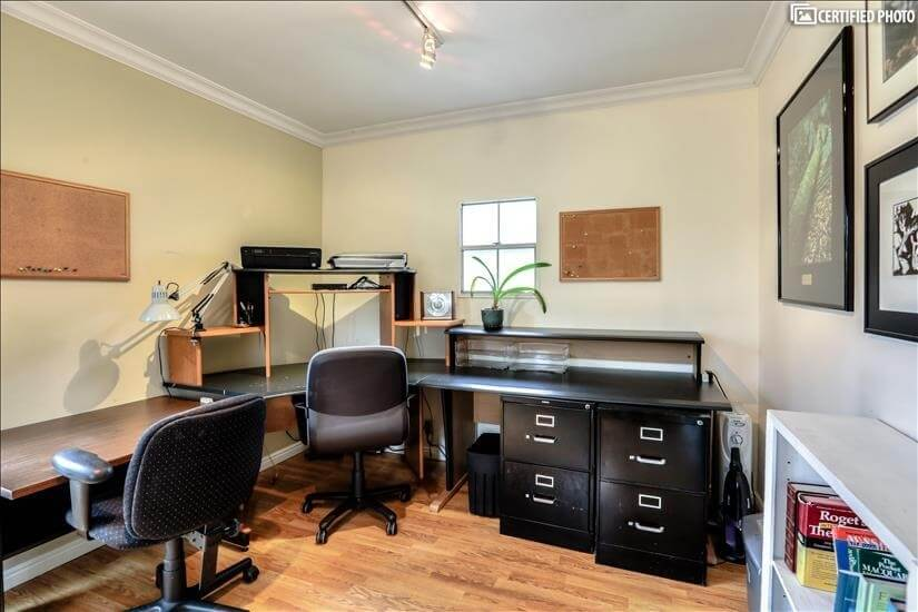 Spacious office with high speed internet.