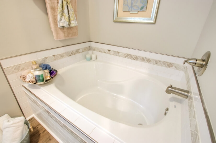Relax in this oversized soaking tub