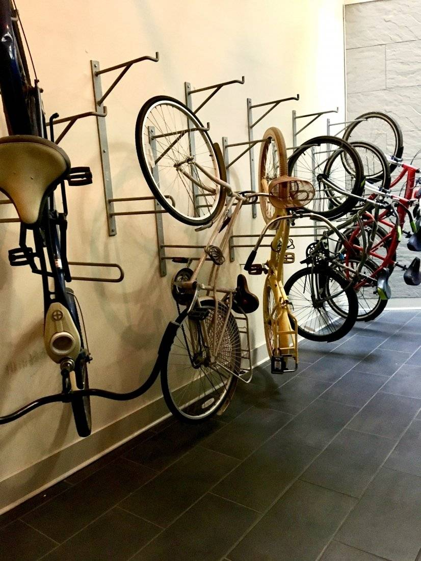 Lobby Bike Racks (concealed from rest of Lobby)