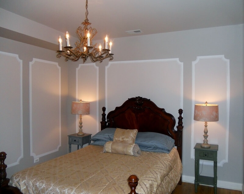 Bed room 1 with queen bed....