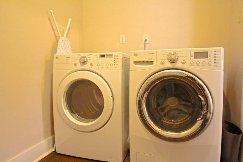 Washer, dryer, iron, ironing board