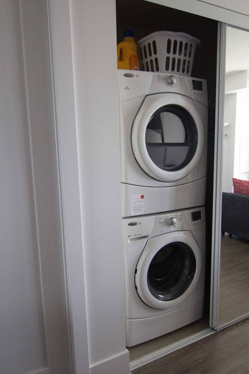 En suite washer and dryer