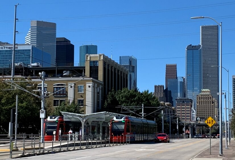 Houston's light rail system: fast, efficient, economical.