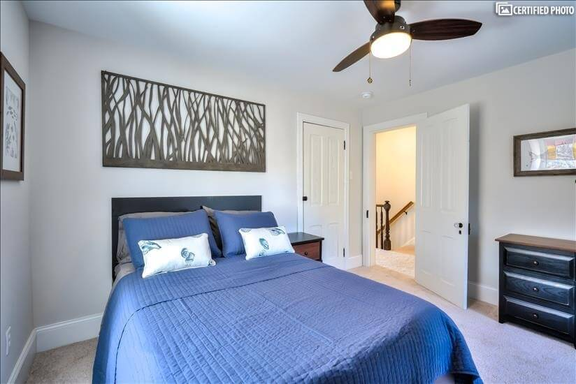 """3rd Floor """"Fish Bedroom"""" Toward Hallway (Queen)"""