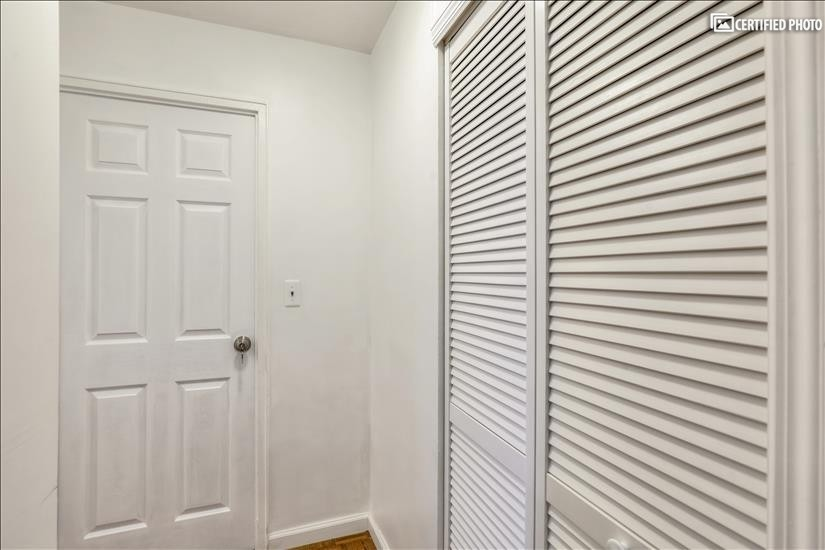 Newly refurbished doors and closets