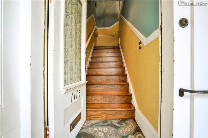 Stair view from front door