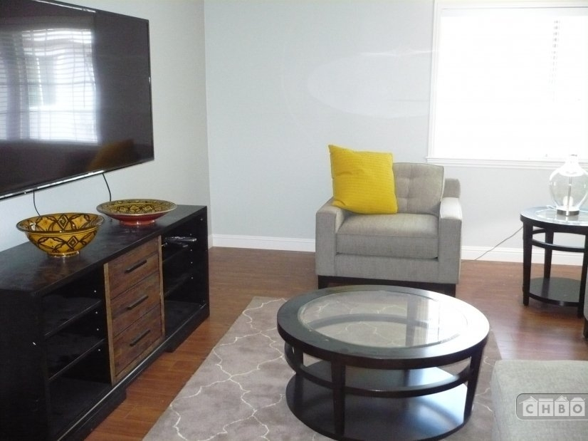 Living room with 60 inch TV 1