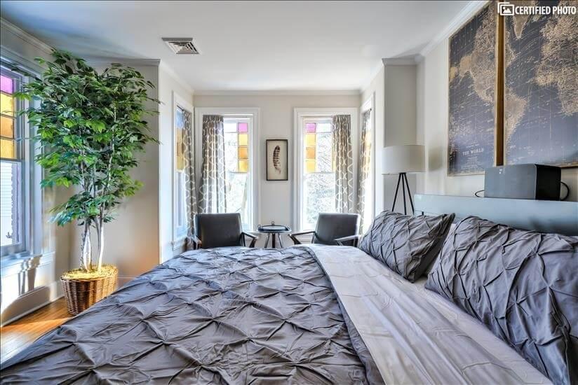2nd Floor Master Bedroom Toward Reading Nook (King)