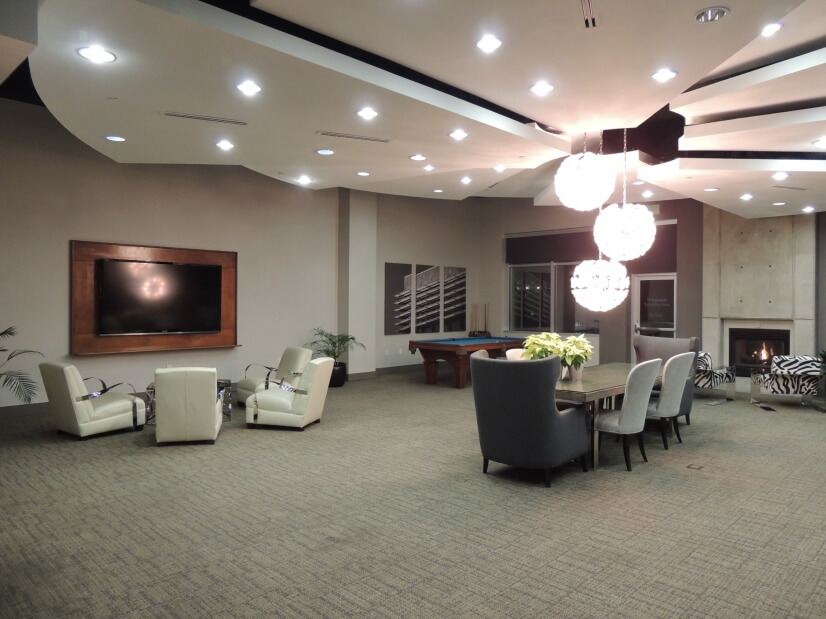 Huge Club Room with Theater TV.