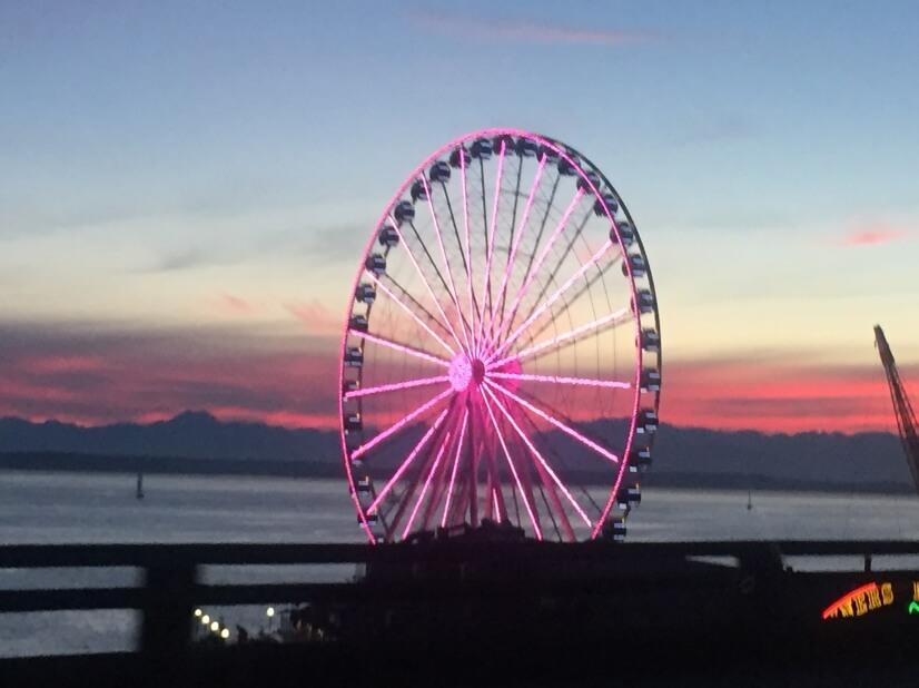 Downtown Seattle & waterfront 7 mins.