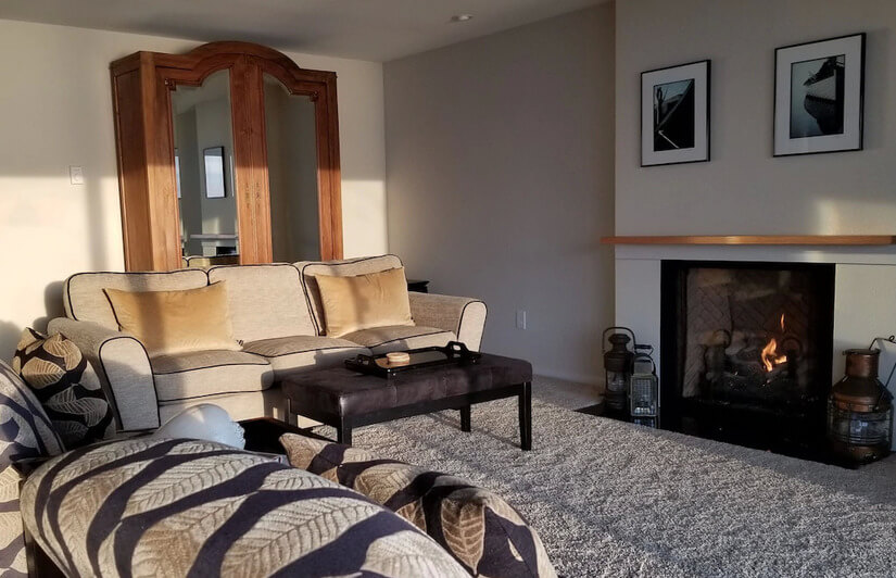 The comfort of a gas fireplace