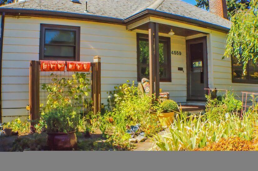 Exterior- addtl patio nr window & cherry tree