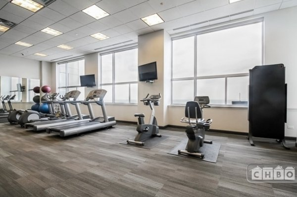 Workout center overlooking Lake Michigan