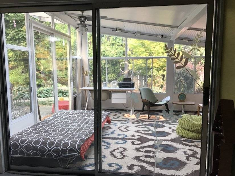 sunroom to back yard