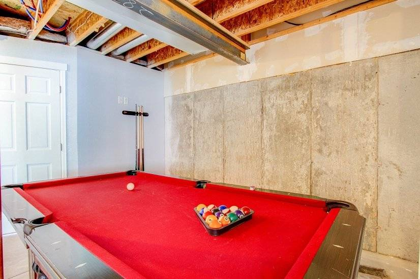 Pool table in the basement!
