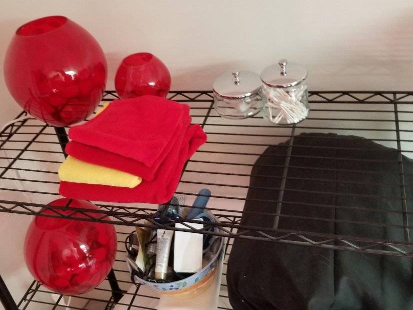Toiletry Items and Sleeping Bag