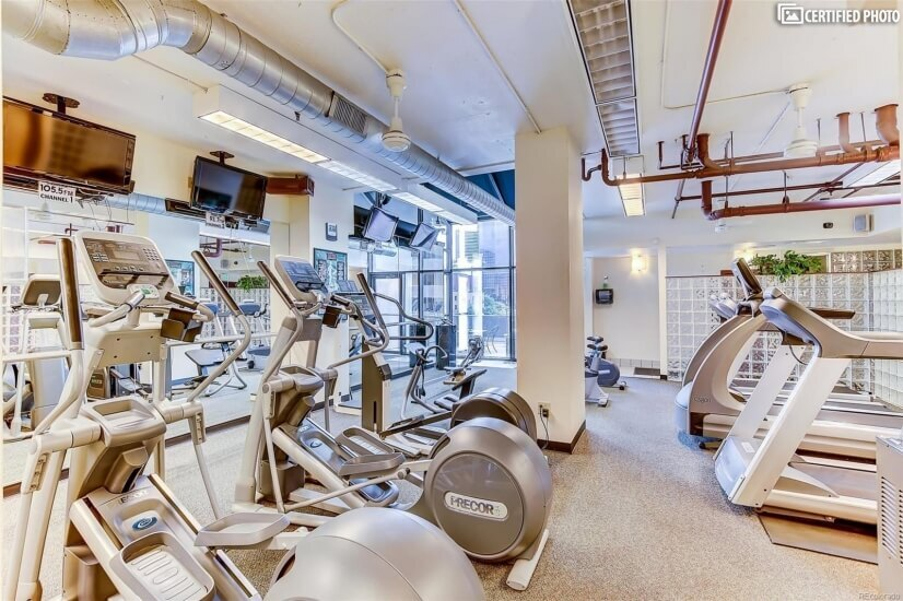 Complete Exercise Room with racketball courts