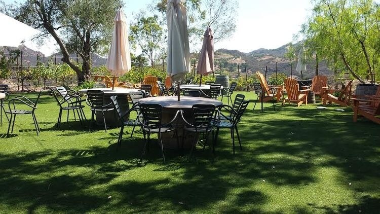 The Malibu Winery features live music every weekend.