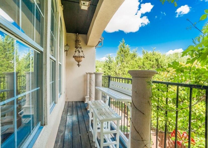 Master Bedroom Balcony With Backyard Views & Masive Trees.