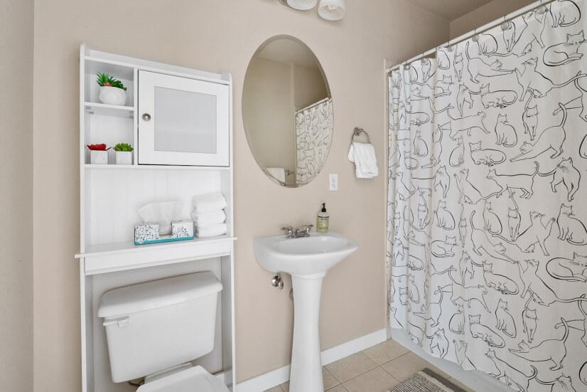 Bathroom for guests or second bedroom / flex