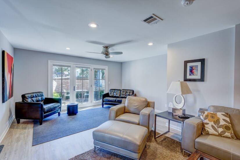 Living Area looking Toward Front Patio