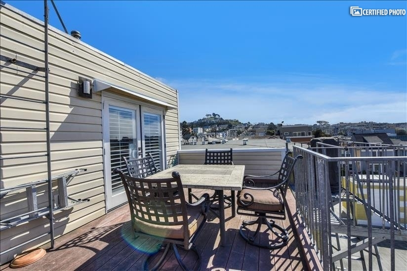 Deck 4 with view of Grandview Park Hill and Sutro Tower