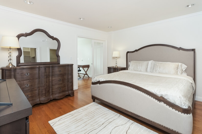 Master Bedroom Suite with king size bed and office