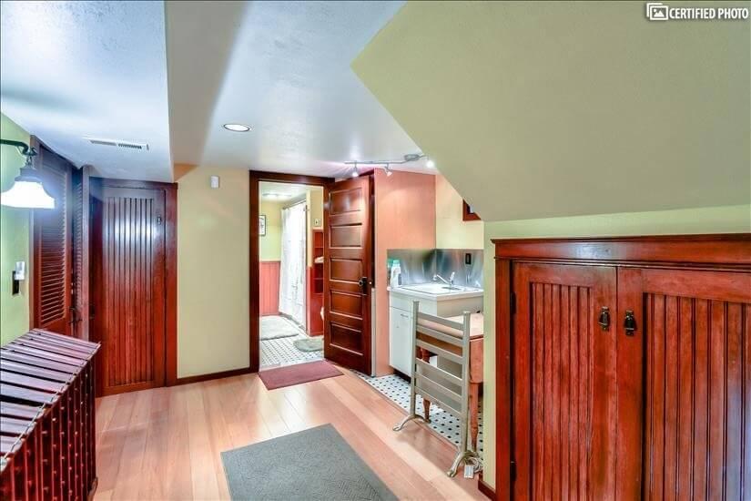 Basement Hallway leading to bathroom