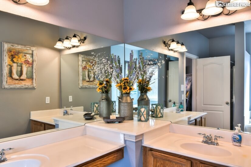 Master Bath with 2 sinks