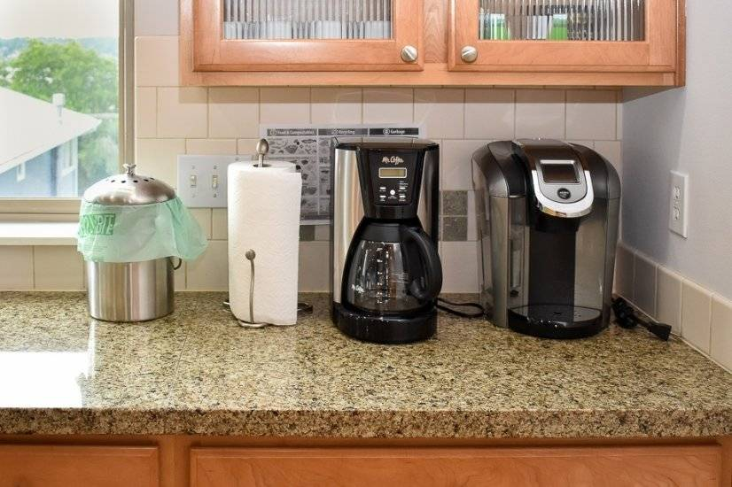 Coffee makers, with coffee provided