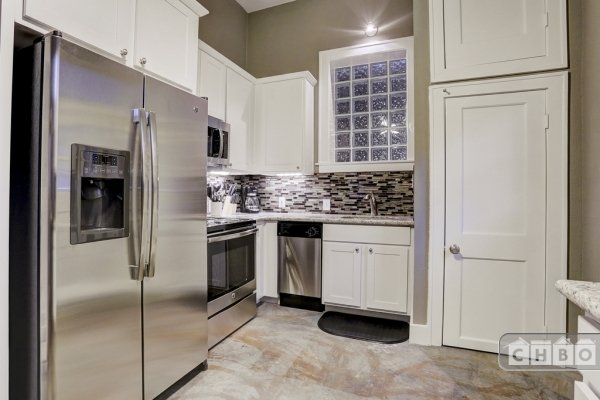 All new kitchen cabinets and stainless appliances