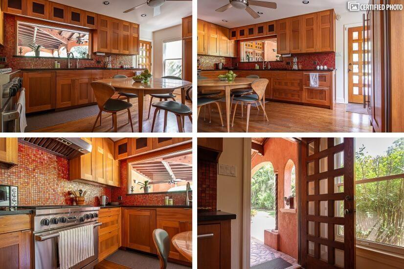 kitchen door to the veranda and outdoor dinin