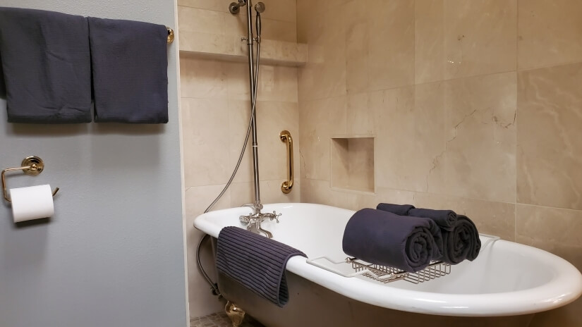 Relax in Master Bath with Long Clawfoot tub