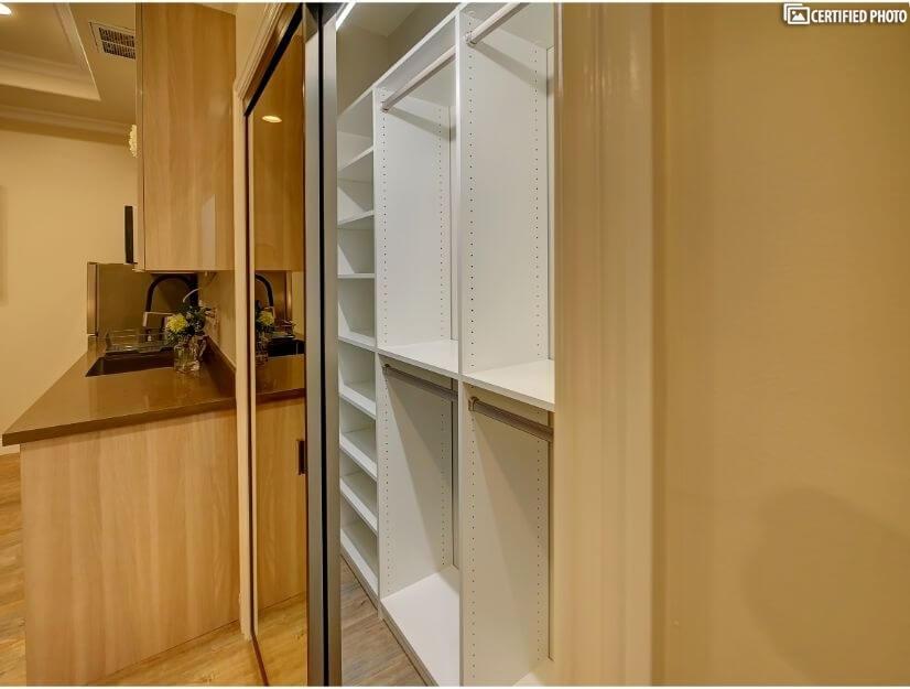 Studio C - Large closet with built in organizers.
