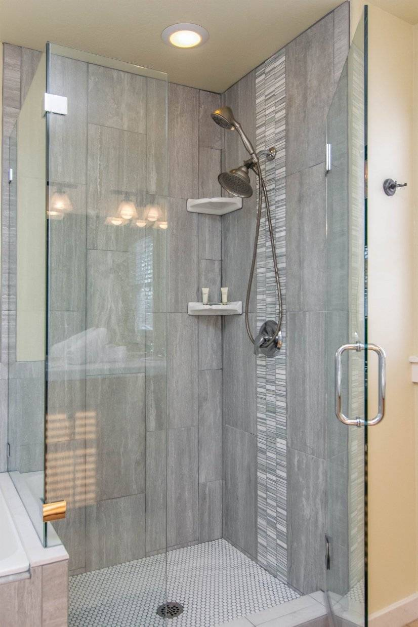 Master Bathroom with beautiful glass/tile shower