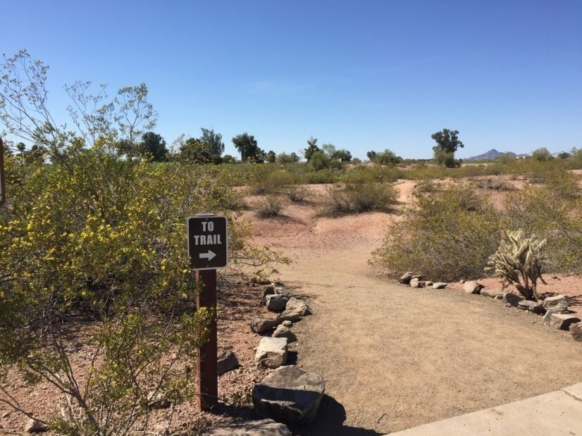 Trails at Papago Park are across the street!