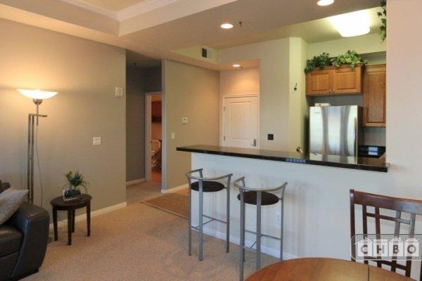 Entry door & kitchen from LR