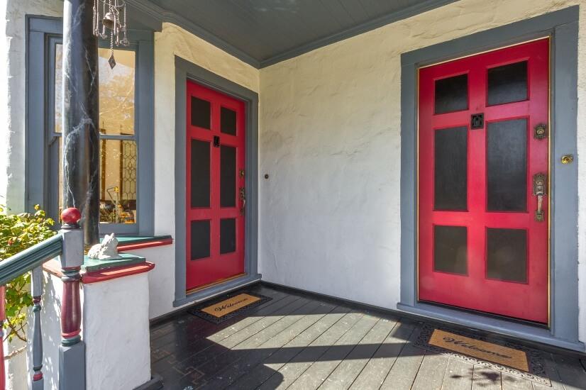 Separate open air doors social distancing is possible.