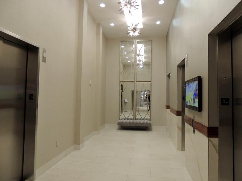 Elegant Elevator hall.-