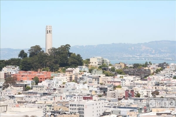 A view toward Coit Tower and the bay beyond!