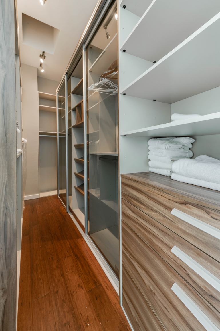 Large closet off master bath.