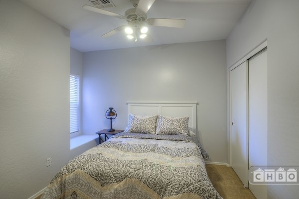 2nd Room with Queen Size Memory Foam Bed